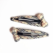 Bow girl fashion hairpin headdress grid British style of hair clips