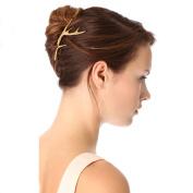 iWenSheng Women's Vintage Gold Deer Antlers Hair Clips