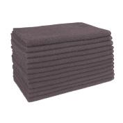 Ultimate 29 U29 Bleach Safe Salon Towels, Charcoal/Grey, 12 Piece
