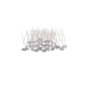 30 Pcs Women's Fashion Wedding Bridal Clear Crystal Rhinestone Hair Pins Clips