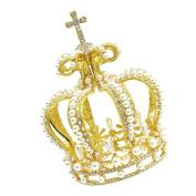 CamingHG Gold Crown Cake Topper Vintage Crown Tiara Small Wedding Cake Top Princess Tiara
