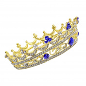 CamingHG Gold Rhinestone Wedding Crown Alloy Bridal Tiara Baroque Queen King Crown