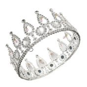 CamingHG Silver Bridal Tiaras Crowns Headband Crystal Rhinestone Pageant Bride Hair Accessories Pearl Wedding Crown
