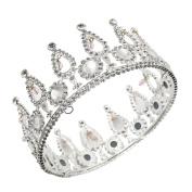 CamingHG Silver Bridal Tiaras Crowns Headband Crystal Rhinestone Pageant Bride Hair Accessories Pearl Wedding Crown