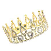CamingHG Queen Baroque Crown Rhinestone Bride Tiaras Women Wedding Gold Crowns Bridal Hair Jewellery Accessories