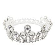 CamingHG Wedding Bridal Bridesmaid Star Women Girls Gold Crystal Rhinestone Tiara Crown Headband Hair Band Headpiece