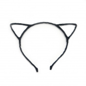 Angelakerry 10pcs Black Cat Ear Girl Metal Black Headband Simple Fashion DIY Wholesale