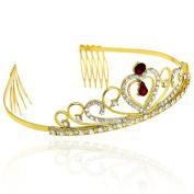 CamingHG Crystal Wedding Hair Accessories Bridal Tiara for Women Rhinestone Crown Hair Jewellery