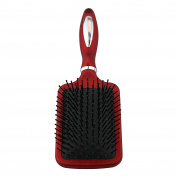 The Classic Paddle Red Hair Brush, For all Hair Types and Hair Lengths, Professional Look