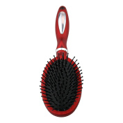 The Classic Mid-Size Red Hair Brush, For all Hair Types and Hair Lengths, Professional Look