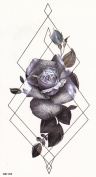 DaLin Medium Temporary Tattoos, 4 Sheets