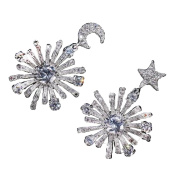 Asymmetric snowflakes earrings