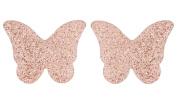 J Goodin Jess Glittery Butterfly Rose Gold Stud Earrings