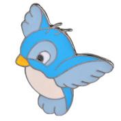 Hosaire Brooch Pin Women's Cute Blue Birds Scarf Pin Lapel Brooch Sweater Pin Style 3