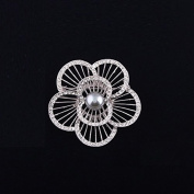 Flower Jewellery Brooch Bouquet, Corsage for Bridal Shower Wedding Invitation, Costume Party Dress, Pin Gift