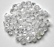 4mm Clear Bicone Crystal Czech Loose Spacer Faceted Glass Beads Jewellery Making DIY Earrings Bracelets