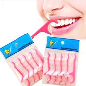 50pcs Dental Floss Flosser Picks Teeth Toothpicks Stick Oral Care Tooth Clean