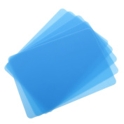 Dovewill Pack of 5 Silicone Table Mat for Jewellery Making Craft Tool Mat Table Protector - Blue