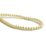 4mm 14kt Gold plated Brushed Round Beads 8 inch 53 pieces