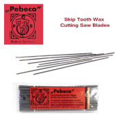 Pebeco Skip Tooth Wax Cutting Saw Blades - 12 pack - Size #1a