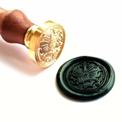 Vooseyhome The Welsh Dragon Wax Seal Stamp with Rosewood Handle