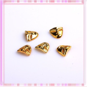 Ottery 3D Golden Face-shaped Nail Decoration Fashion Nail Art Decoration