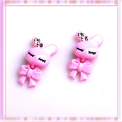 Ottery 3D Pink Rabbit Design with Diamond Nail Decoration Lovely Nail Art Decoration