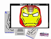 Face Painting Stencil - StencilEyes Man of Iron