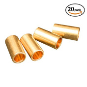 Metre Copper Brass Bead Tube Ring For DIY Macrame Wall Hanging Plant Holder Craft DIY Kit 20 Pieces