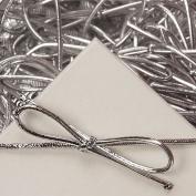15cm Metallic Silver Stretch Loops