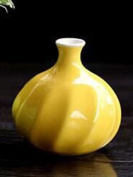 Vase Fillers Small Size Flower Holder Lovely Jardiniere Home Decoration Ceramic Vase Colour Yellow 1 Piece