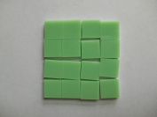 FortySevenGems 100 Pieces Lt Green Opaque Stained Glass Mosaic Tiles 1.3cm x 1.3cm