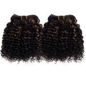 Emmet 2pcs/lot 100g Short Wave 20cm Brazilian Kinky Curly Human Hair Extension