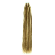 Reign Hair Factory Raw Virgin Brazilian Double Drawn #4/#16 Piano Colour Straight Tape In Hair Extensions Unprocessed ,2.5g/pc 100g/pack.