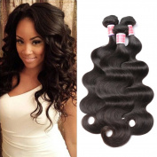 Beauty Princess Brazilian Hair 3 Bundles Body Wave Human Hair Weave Unprocessed 7a Vigin Brazilian Hair Extensions Natural Black Colour