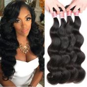 Pizazz 7a Brazilian Body Wave Virgin Hair 4 Bundles Deal 100% Unprocessed Human Hair Weave Natural Colour