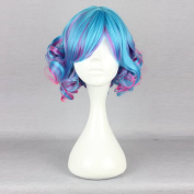 Mcoser New womens Curly omber Synthetic Fashion Lolita Wig Mix Colour