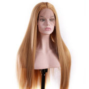 V'NICE Natural Looking Long Synthetic Hair Lace Front Wig Synthetic Summer Blonde Wigs for Women Heat Resistant Fibre Hair