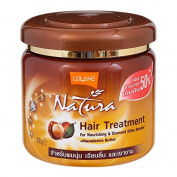 (Size 16.90 Oz ) Lolane Natura Macadamia Butter Hair Treatment Mask 500ml : For Nourishing and diamond shine booster