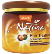 Lolane Natura Macadamia Butter Hair Treatment Mask 250ml (8.45Oz) : For Nourishing and diamond shine booster