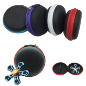 DZT1968 Fidget Hand Spinner Triangle Finger Toy anti-dust Bag Case random colour