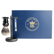 RoyalShave Merkur 33C Wet Shaving Set for Men! - Razor, Brush, and Stand 3-Piece Kit!