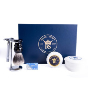 RoyalShave Merkur 23C Long-Handled Polished Chrome Safety Razor Set