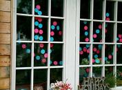 KINGWEDDING 400cm Long Round Dots Hanging Decoration String Paper Garland Wedding Birthday Party Baby Shower Background Decorative,2pcs