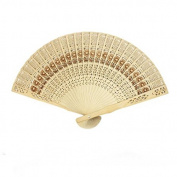 Freedi Chinese Folding Hand Fans Wooden Openwork for Performance Dance Japanese Vintage Home Decor