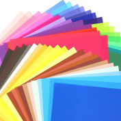 Caydo 500 Sheets 50 Vivid Colours Origami Paper Single Sided 15cm by 15cm for Arts and Crafts Projects