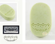 SoapRepublic Eyelet Lace - Handmade Acrylic Soap Stamp / Cookie Stamp / Clay Stamp