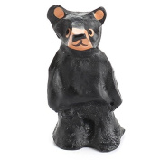 Package of 6 Miniature Hand Carved Wood Bear Figures for Kids Crafting, Holiday Embellishing and Creating