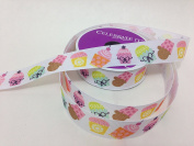Cartoon Cupcake Pattern Celebrate It 100% Polyester 2.2cm . x 6.4m Ribbon - Great For Any Occasion!