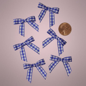 Mini Royal Blue and White Chequered Gingham Bows